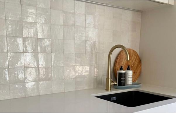 Handmade Tiled Kitchen Splashback